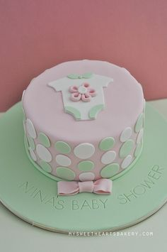 simple homemade baby shower cakes for girls | GIRL BABY SHOWER CAKE | Flickr - Photo Sharing!