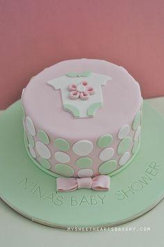 simple homemade baby shower cakes for girls   GIRL BABY SHOWER CAKE   Flickr - Photo Sharing!
