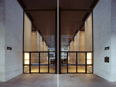 US/NYC/SEAGRAM BLDG/08 by German photgrapher Hagen Stier. In his Splitting Mies series, Stier attemps to deal with aspects of symmetry in the work of Mies van der Rohe.