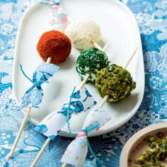 Des boulettes de fromage aux herbes / Recipe with cheese
