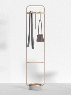 Neri&Hu design rounded rectangle coat stand for Offecct Hanger is a minimal clothes stand designed by Chinese studio Neri & Hu Standing Clothes Rack, Free Standing Coat Rack, Cool Furniture, Furniture Design, Neri And Hu, Clothes Stand, Design Apartment, Coat Stands, Coat Hanger
