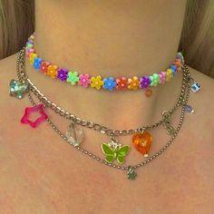 Kids Jewelry, Cute Jewelry, Beaded Jewelry, Jewelry Accessories, Beaded Necklace, Funky Jewelry, Beste Iphone Wallpaper, Pulseras Kandi, Mode Hippie