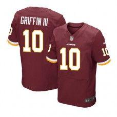Elite Mens Nike Washington Redskins #10 Robert Griffin III Team Color NFL Jersey