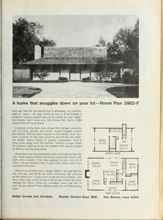 Architectural House Plans, Old Love, Mid Century House, House Floor Plans, Houses, How To Plan, Architecture, Home Plants, Homes