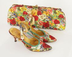 From the best of 2014 in my blog...I loved this set! 1950s flowered matching handbag and shoes http://denisebrain.blogspot.com/2015/01/denisebrain-best-of-2014.html