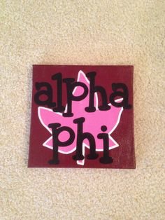I've decided to open up an Etsy shop selling custom painted canvases with sororities, monograms, etc.  I only have one sample available right now from one that I made for my friend's birthday, but I'd love to start making some more! (:  Spread the word!