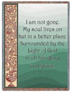 Personalized My Soul Lives On Inspirational Tapestry Throw 1afc7627a