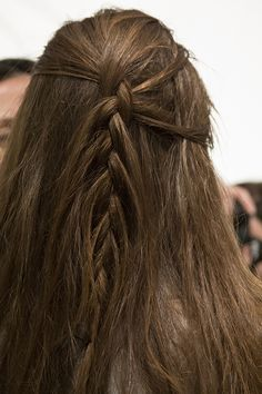 We love this intricate braids spotted at the BCBG show! Find more hair inspiration here: http://birch.ly/YgfEDq