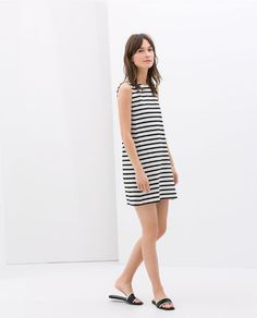 STRIPED DRESS from Zara