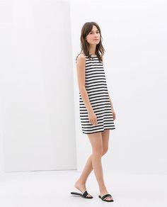 STRIPED DRESS from Zara