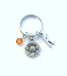 Your place to buy and sell all things handmade Bridesmaid Presents, Personalized Charms, Birthstone Charms, Initial Charm, Best Friend Gifts, Key Chains, Key Rings, Antique Silver, Bff