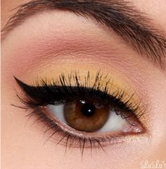 Canary Yellow Cat Eye - Gorgeous & Well Detailed Tutorial! #Beauty #Trusper #Tip