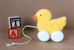 3D Ducky Pull Toy Cookie