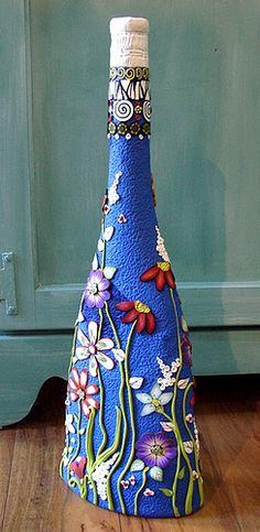 Bas Relief vase in color