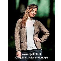 Cardigan med kontrastkanter - strikkes i Dansk Pelsuld fra Hjelholt Uldspinderi www.ingridmarie.dk