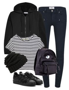 """""""Untitled #7502"""" by katgorostiza ❤ liked on Polyvore featuring moda, adidas, Paige Denim, Enza Costa y Leith"""