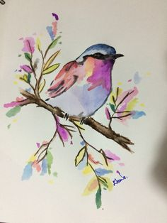 Watercolor bird Art, Paint