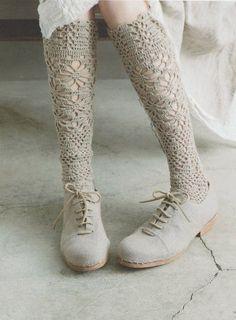 Japanese Crochet Lace Socks Pattern Japanese Craft by DotsStripes, $2.50