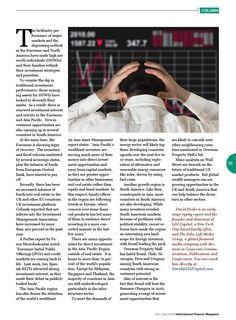 from International Finance Magazine (Inaugural Issue) Oct - Dec 2014 Soho Loft, Net Worth, Priorities, Finance, Investing, Magazine, Marketing, Group, Magazines