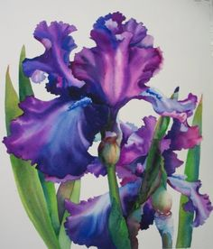 Nel's Everyday Painting: Iris in Blues - SOLD