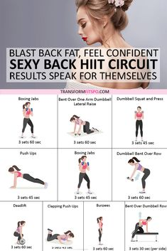 Back Fat Workout, Body Workout At Home, Fitness Workout For Women, At Home Workouts, Bum Workout, Mid Back Exercises, Back Fat Exercises At Home, Glute Exercises, Whole Body Workouts