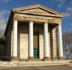 Dutch Reformed Church - The former Dutch Reformed Church in Newburgh, New York, is an outstanding Greek Revival building designed in 1835 by Alexander Jackson Davis.