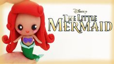 Disney Ariel Little Mermaid Polymer Clay Tutorial (+playlist) Polymer Clay Kunst, Polymer Clay Figures, Polymer Clay Animals, Cute Polymer Clay, Cute Clay, Polymer Clay Miniatures, Fimo Clay, Polymer Clay Projects, Polymer Clay Charms