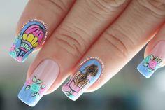 Disney Nails, Cute Nail Designs, Cute Nails, Nail Art, Yuri, Beauty, Enamels, Sentences, Multicolored Nails