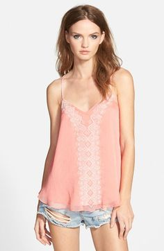 Lucy Paris Embroidered Racerback Camisole | Nordstrom
