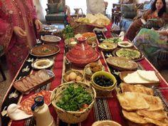Food buffet in arabic style breakfast i did fir my friends
