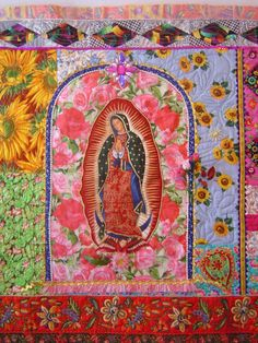 series of fiber art quilts at ladyguadalupe.blogspot.com