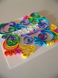 erin casner again Quilling Letters, Paper Quilling Flowers, Quilled Paper Art, Quilling Paper Craft, Diy Paper, Paper Crafts, Quilling Tutorial, Origami, Quilling Designs