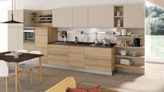 Cucina Jey - Cucine Moderne - Creo Kitchens Kitchen Room Design, Modern Kitchen Design, Kitchen Decor, Room Color Schemes, New Kitchen, Kitchen Remodel, Family Room, Sweet Home, Kitchen Cabinets