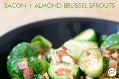 BOX FRESH RECIPE: BACON + ALMOND BRUSSEL SPROUTS