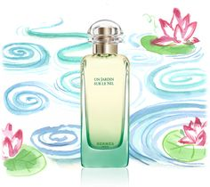 Hermes Fragrance - Un Jardin Sur Le Nil - A fruit and water garden on my skin - Calamus, Green Mango, Lotus, Grapefruit, Sycamore, and Incense.  Exotic sunshine.  Helps me get over having to be indoors on summer work days.