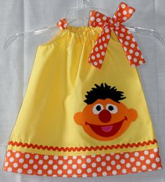 Super Cute Sesame Street Inspired Ernie by LilBitofWhimsyCoutur, $25.00