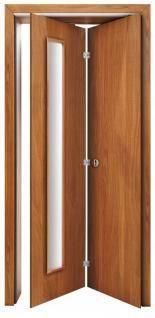 Drzwi łamane z szybą SATINATO