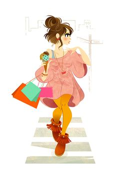 POPLIFE -lifestyle illustration- vol.1 by Hyaku , via Behance
