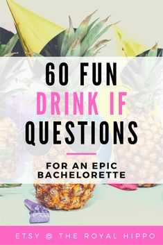 Pour the drinks and get ready to turn up with this awesome bridal shower game. 60 hilarious questions for a fun filled night of laughter. Bachelorette Drinking Games, Adult Drinking Games, Drinking Game Questions, Hen Party Games, Printable Bridal Shower Games, Fun Drinks, Besties, Awesome, Amazing