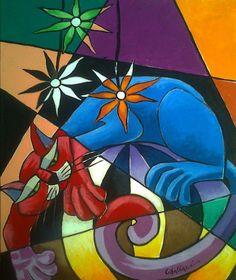 Artodyssey: Artist Rita Cavalarri - Born in Rome, Italy - Self-taught artist - she started as a fashion designer - In 1990 Rita came to Brazil, encouraged by her husband Romano Di Martino, begins her own artistic career.