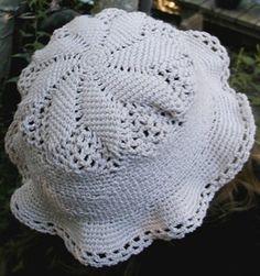 Cotton Thread Sun Hat - Crochet Me