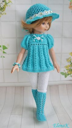 Crochet clothes barbie knitting patterns ideas for 2019 Barbie Knitting Patterns, Knitting Dolls Clothes, Crochet Doll Clothes, Knitted Dolls, Girl Doll Clothes, Doll Clothes Patterns, Clothing Patterns, Crochet Doll Dress, Crochet Doll Pattern