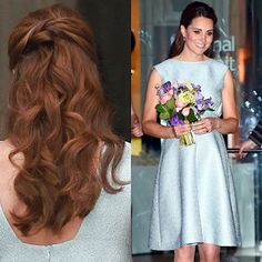 Penteado do Dia = Meio Preso +  Kate Middleton