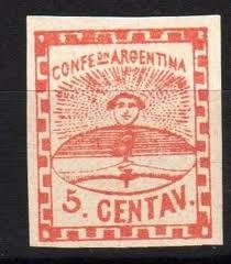 Estampillas Confederacion Argentina Año 1858