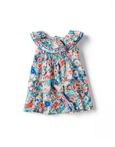Floral print dress. This would be so cute for a little girl this summer!