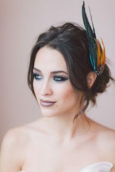 Juventas Headpiece. Fashion Headpiece,  Bridal Headband, Wedding Accessories, Bridal Headpiece by OffwhiteStudio on Etsy
