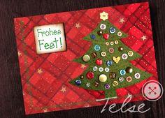 """""""Weihnachtsbaum"""" Postkarte  von Telse Ahrweiler       Kunst + Design auf DaWanda.com"""