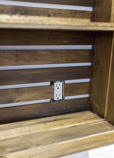 Studio Updates: Rustic Crate Storage Wall (& my failed veneer attempt) | Jenna Sue Design Blog