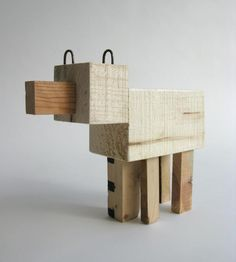 toys made from scraps /// my little Tinker would love this