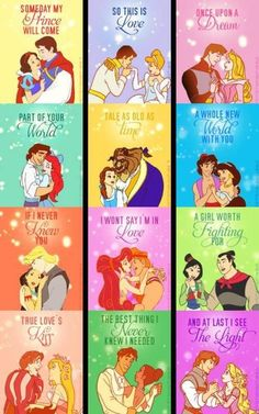Love Disney princess and princes!